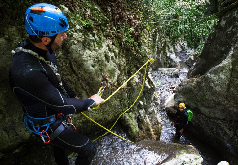 canyoning discese nei torrenti e nelle forre in val di lima e garfagnana