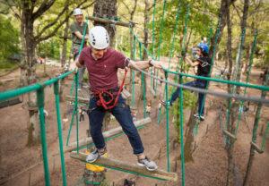 attività di treeclimbing e giochi sospesi sugli alberi in Toscana