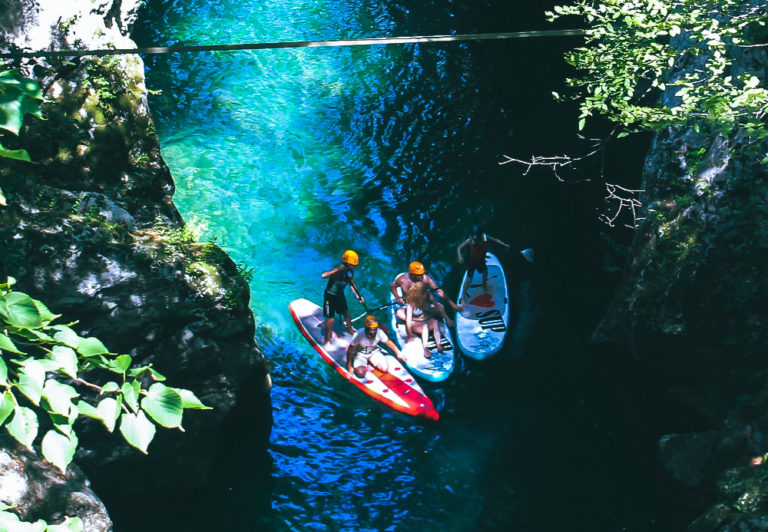 stand up paddle sui fiumi e lungo la costa Toscana